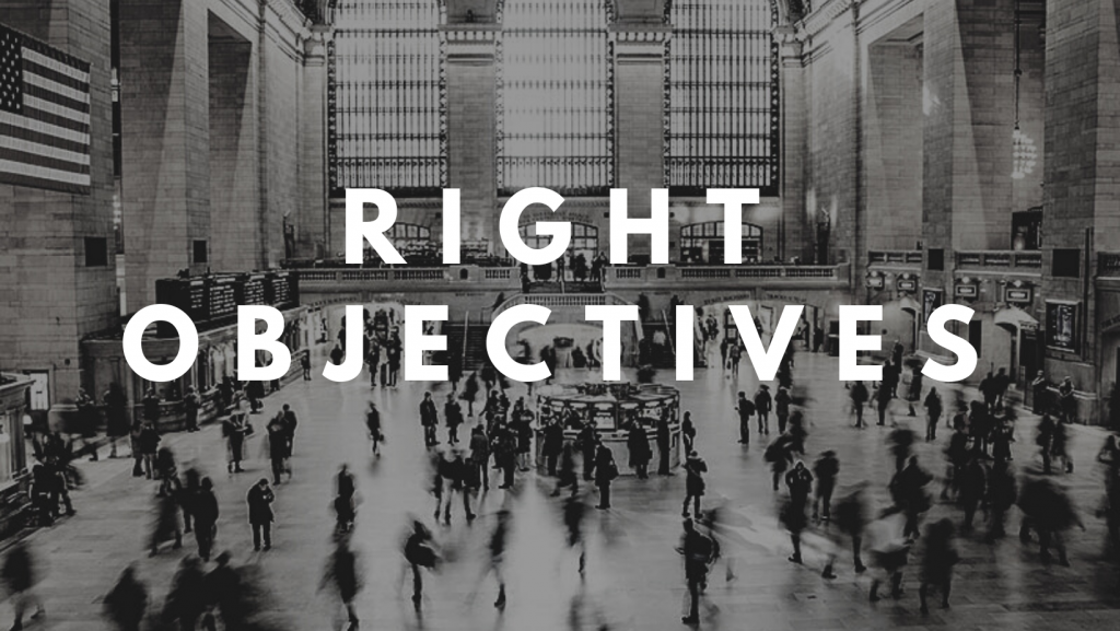 How to set the right Objectives for your Company?!